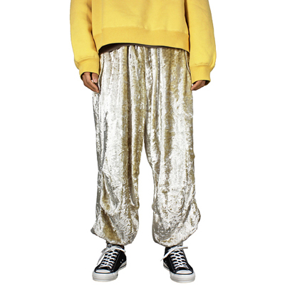 NEON SIGN [ VELVET SNOW PANTS ] GLD