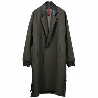 YANTOR [ Cotton Linen Wool Rib Coat ] CHARCOAL