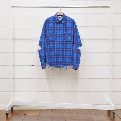 UNUSED [ US1692 (damage check nel shirt) ] BLUE