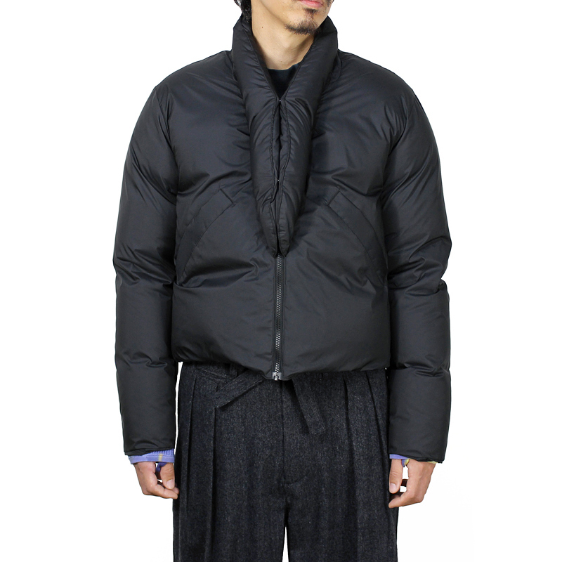 Sasquatchfabrix. [ ORIENTAL SHORT DOWN JACKET ] BLACK