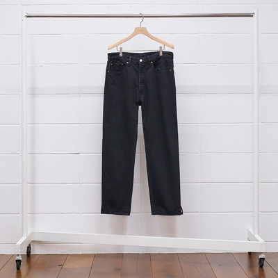 UNUSED [ UW0932 (13oz denim five pockets pants) ] BLACK