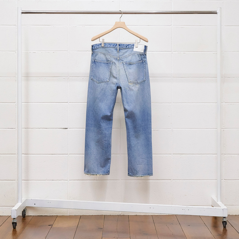 UNUSED [ UW0824 (12.5oz denim five pockets damage pants) ] INDIGO