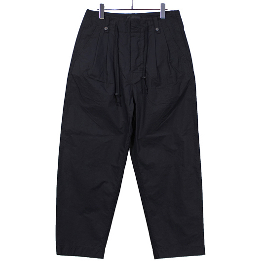 bukht [ 2TUCK ARMY TROUSER ] BLACK