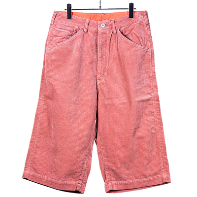 bukht [ BIG SHORTS -7 WELL CORDUROY- ] PINK