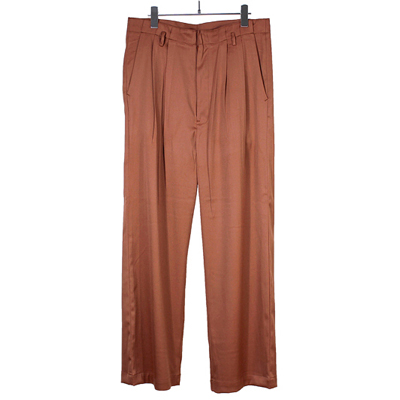bukht [ 2TUCK BAGGY TROUSERS ] OCHER