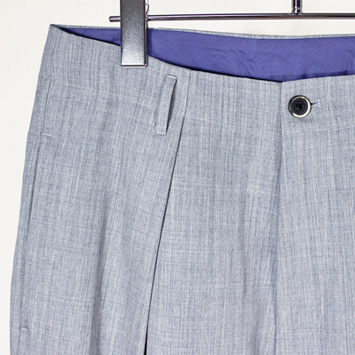 bukht [ ONE TUCK WIDE TROUSER ] ASH GRY