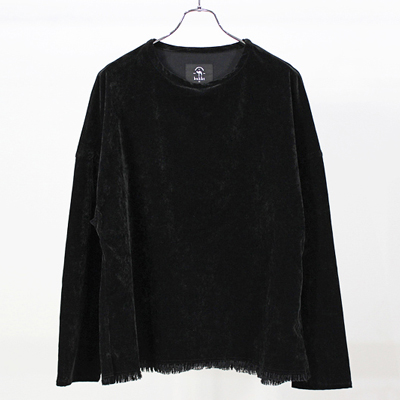 bukht [ DROP SHOULDER L/S TEE ] BLACK