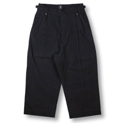 bukht [ PIN TUCK GURKHA PANTS ] BLACK