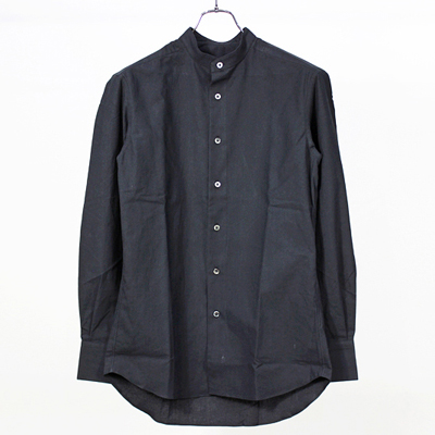 theSakaki [ Band Collar Shirts ] Black