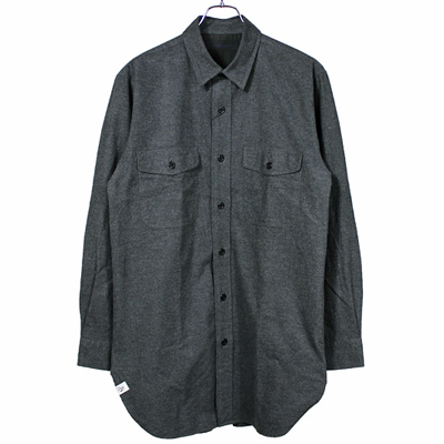 BLACK&BLUE [ Long CPO Shirt ] チャコール