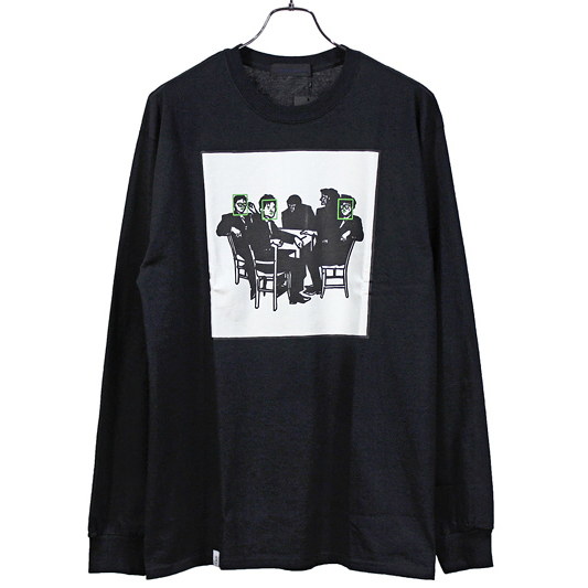 BLACK&BLUE [ Picture Print L/S TEE ]