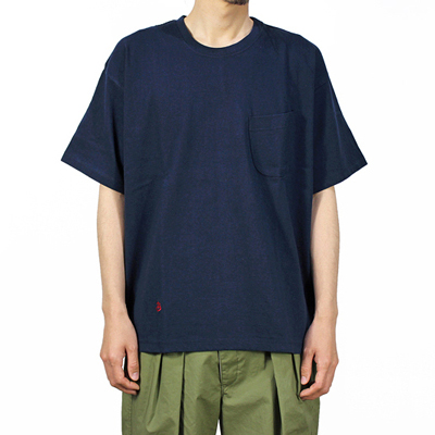BLACK&BLUE [ S/S Pocket TEE ] ネイビー