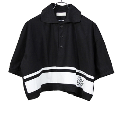 "NEON SIGN [ SCHOOL POLO""MOSS STITCH DIAGRAM"" ] BLK"
