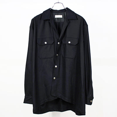 NEON SIGN [ MELTON SHIRT ] BLK