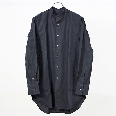 theSakaki [ Band Collar Long Shirts ] Black