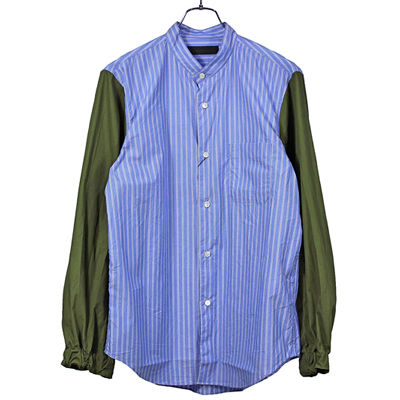 BLACK&BLUE [ M-65 Sleeve Shirts ] ボールドストライプ