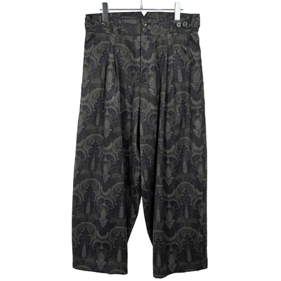 YANTOR [ Buddha-Plant 2tuck Wide Pants ] DARK NAVY