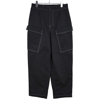 Sasquatchfabrix. [ NYLON MILITARY PANTS ] BLACK