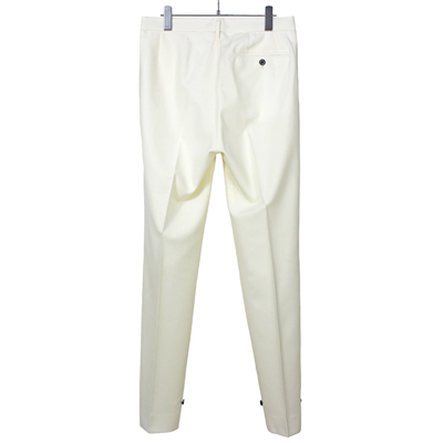 DAIRIKU [ Deck Detail Wool Slacks ] White