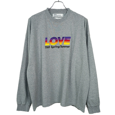 "DAIRIKU [ ""LOVE"" Vintage Long Sleeve Tee ]"